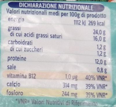 Granarolo Stracchino cremoso - Informations nutritionnelles