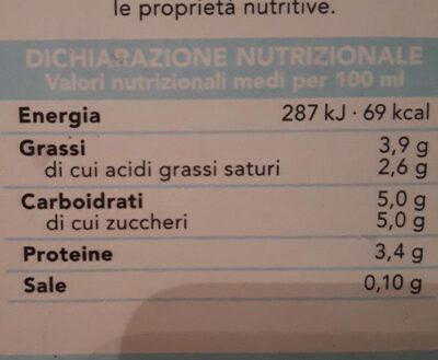 Gusto di una volta latte intero - Informations nutritionnelles - fr