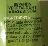 Bev. soia Uht ML500 Granarolo senza zuccheri aggiunti - Ingredienti - it