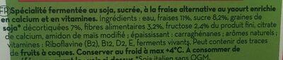 Dessert Soja Fraise - Ingrédients - fr