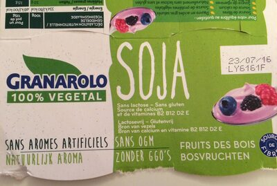 Yaourt soja fruits des bois - Product - fr