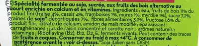 Yaourt soja fruits des bois - Ingredients - fr