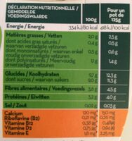 Yaourt soja fruits des bois - Nutrition facts - fr