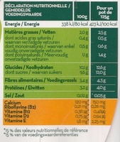 Soja Pêche et Abricot - Nutrition facts