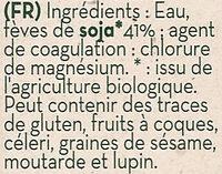 Tofu Bio - Ingrediënten