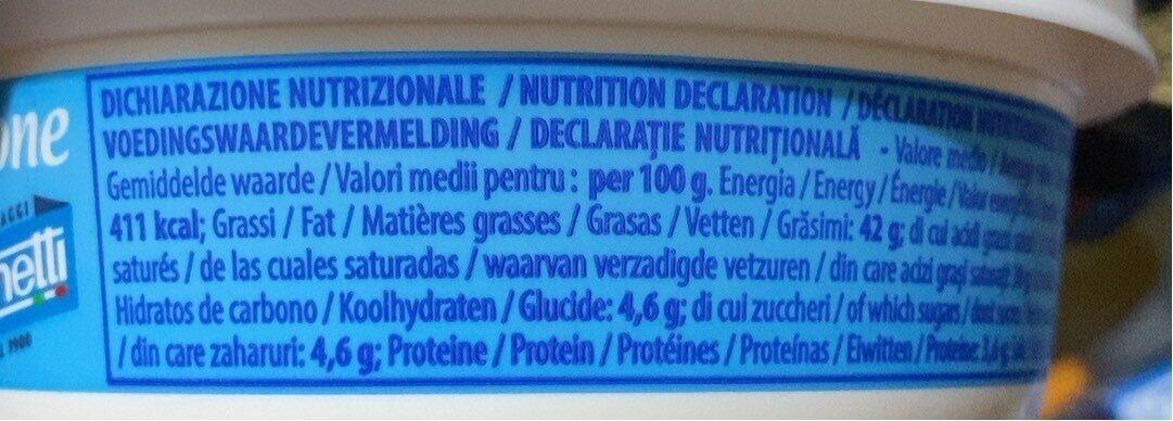 Mascarpone Italiano - Nutrition facts - fr