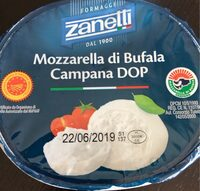 Zanetti Fresh Mozarella Cheese Buffalo Cup (125 G) - Produit - fr