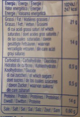 Mozarella di Bufala Campana DOP - Nutrition facts