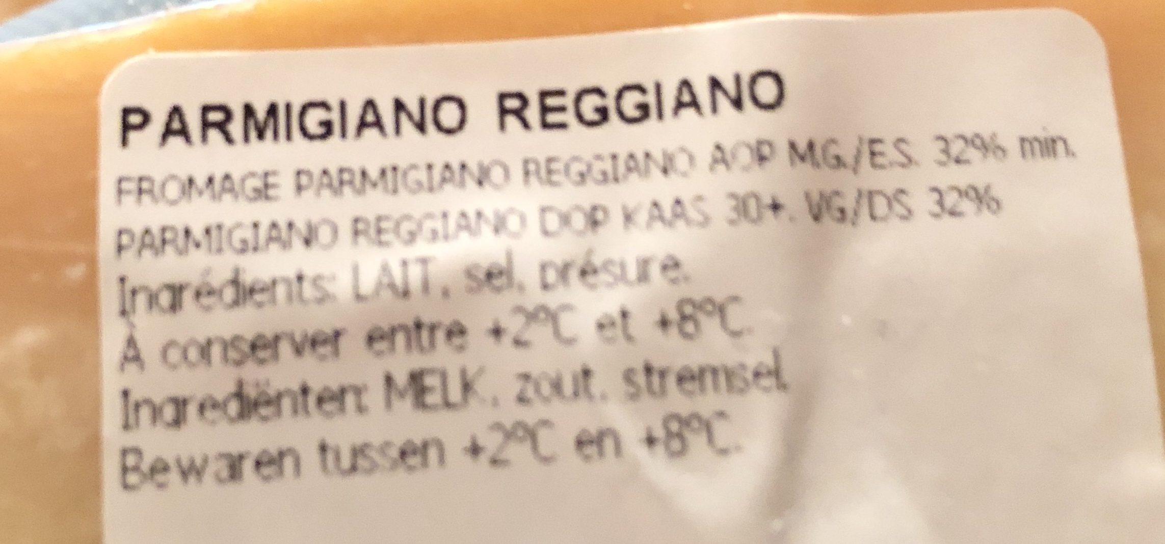Parmigiano reggiano - Ingredienti - fr