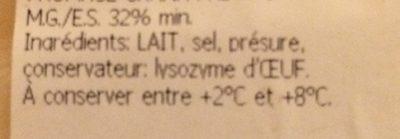 Grana Padano - Ingredients