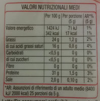 Mix Formaggio - Nutrition facts