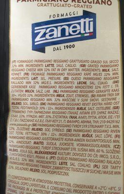 Parmigiano Reggiano - Ingredientes