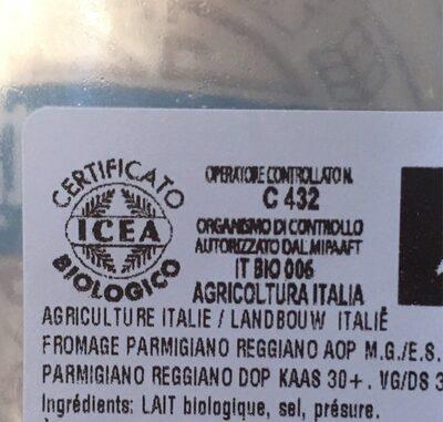 Parmigiano reggiano - Ingrédients