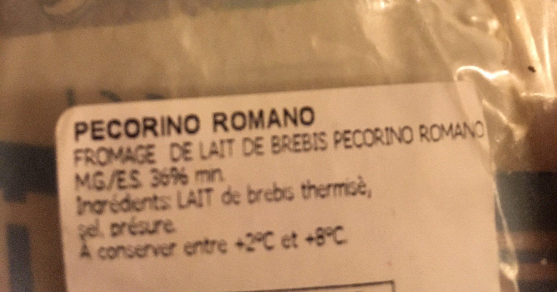 Pecorino Romano 200 GR - Ingredients - fr