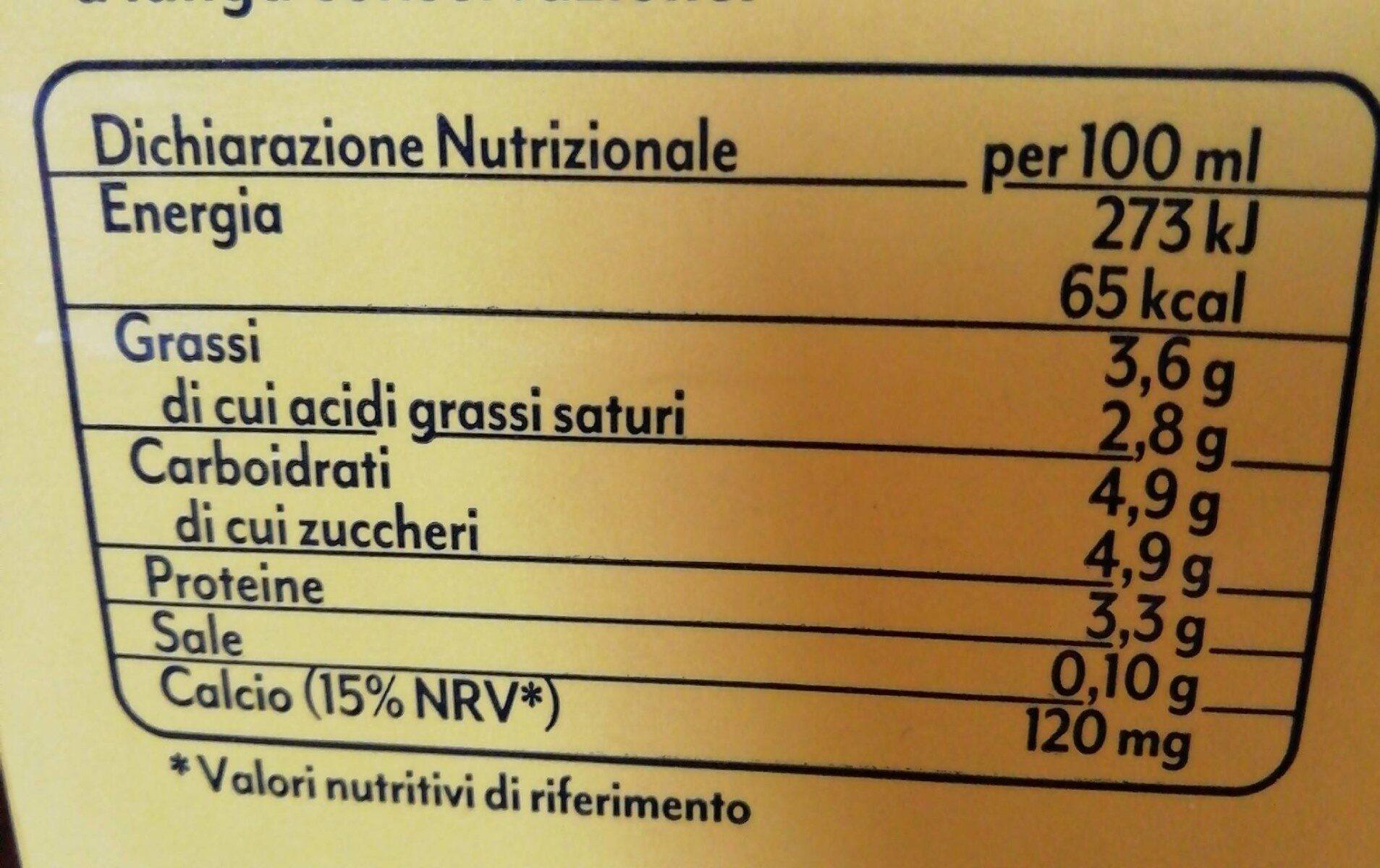 Latte intero uht arborea - Informations nutritionnelles - fr