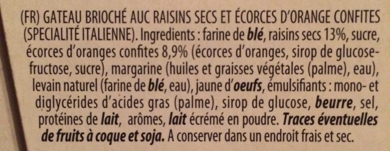 Il Vecchio Forno - Panettone Con Canditi - Ingredients