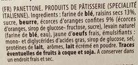 Panettone - Ingrediënten