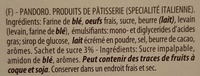 Pandoro - Ingredients - fr