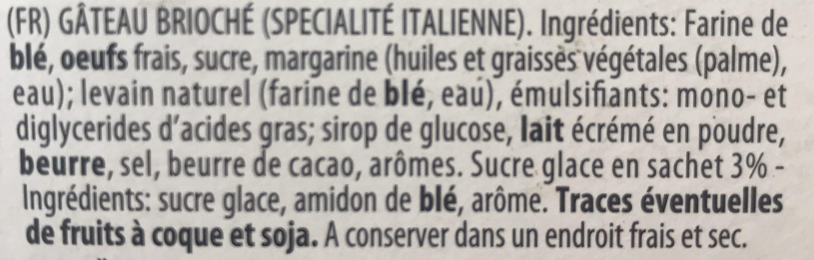 Pandoro - Ingredients