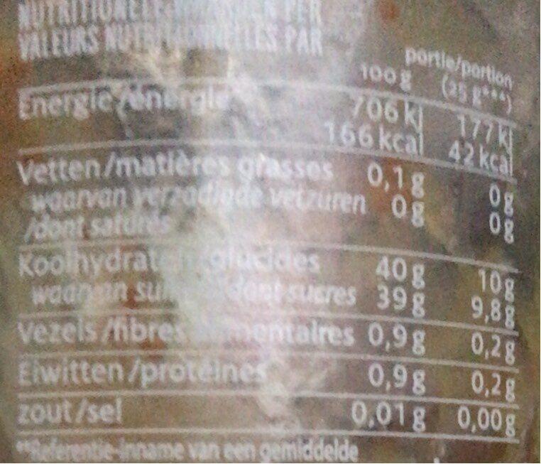 Solofrutta Senza Zucchero Fico 1 Vaso 295 GR Bio - Informations nutritionnelles - fr