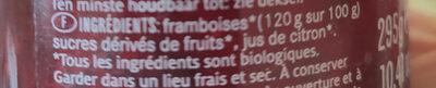 Confiture solo frutta framboises bio - Ingrediënten - fr