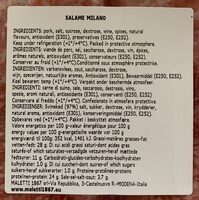 Salami milano - Informations nutritionnelles - fr