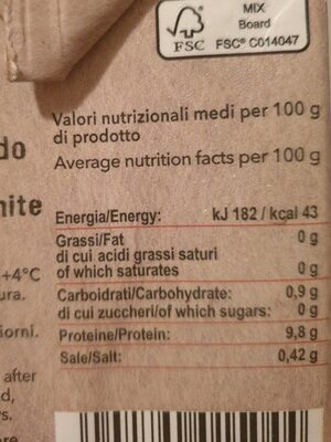 Albume d'uovo - Informations nutritionnelles - it