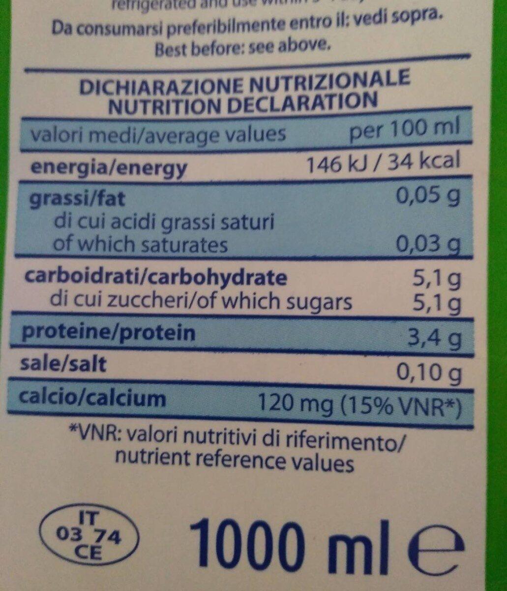 Latte scremato microfiltrato - Informations nutritionnelles - fr