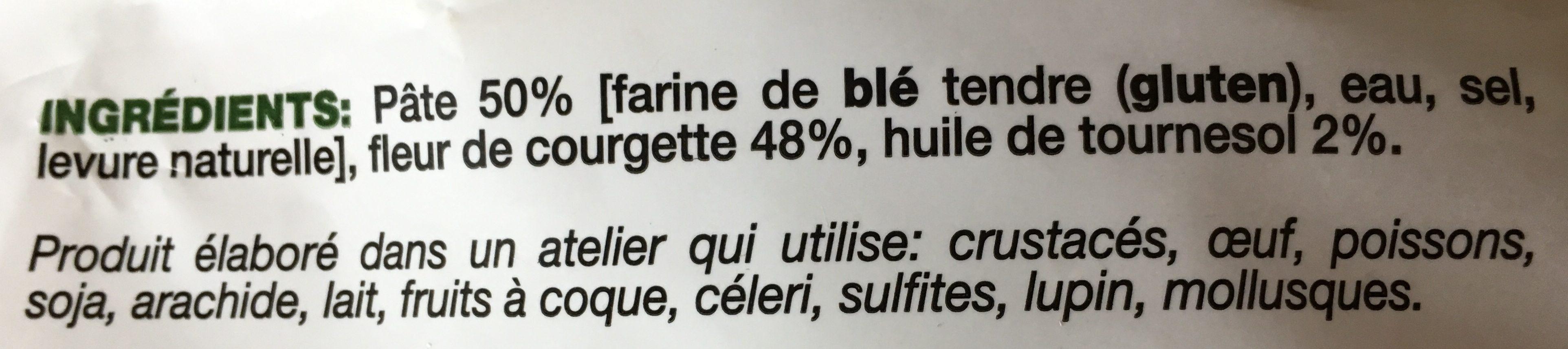 Beignets de Fleur de Courgette - Ingredients - fr