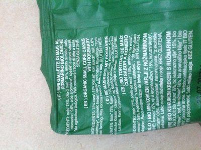 Mais Snack Bio - Ingrediënten