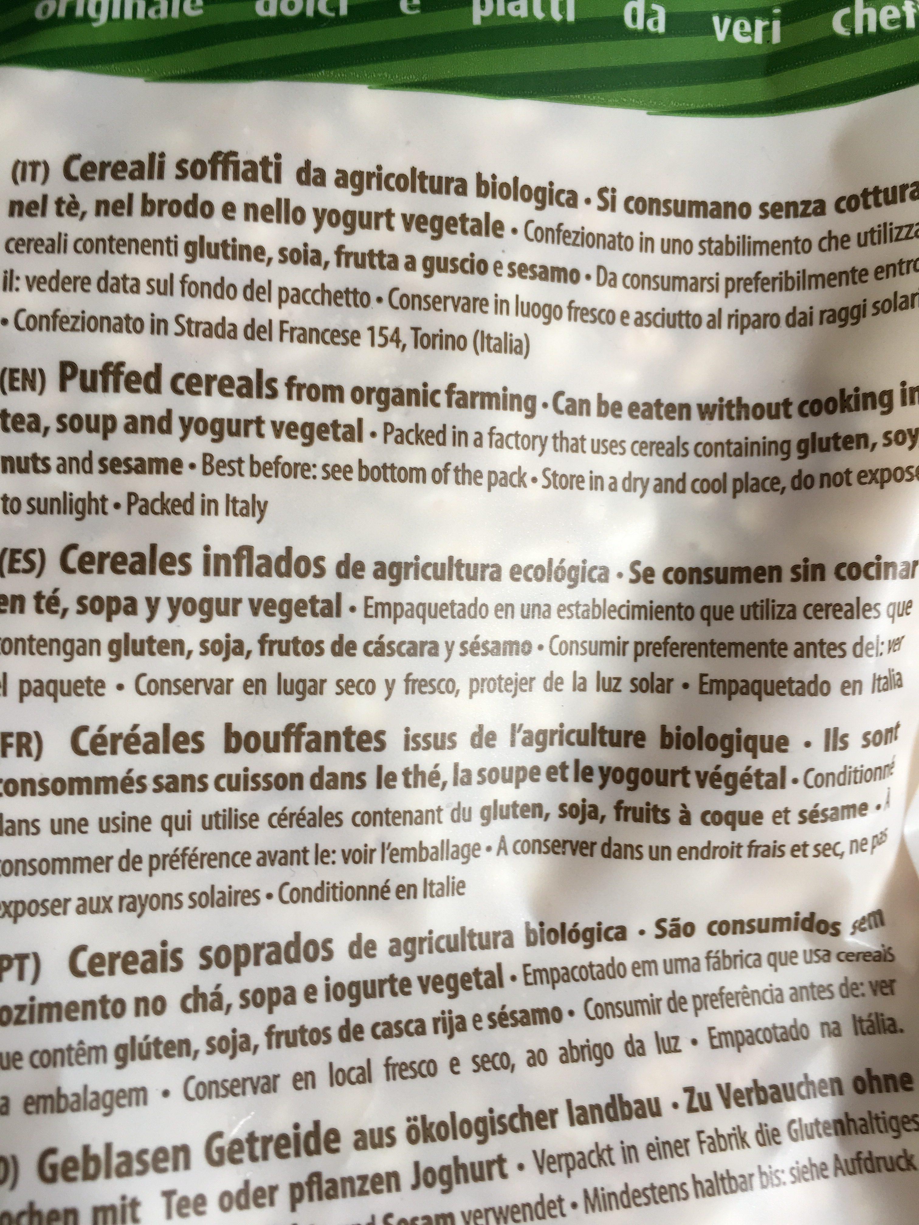 Riz soufflé bio - Ingrediënten - fr