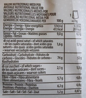 PAT snick snack - Nutrition facts