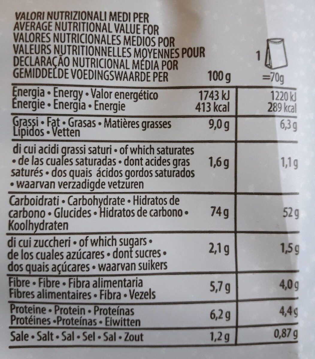 PAT snick snack - Nutrition facts - it