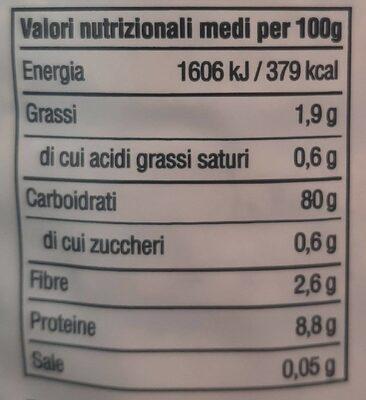 Gallette Bio di Riso - Informations nutritionnelles - fr