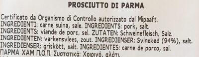 Prosciutto di parma - Ingrediënten - fr