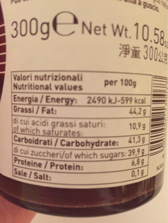 Suprema Cioccolato al latte in crema di nocciole e olio d'oliva - Informations nutritionnelles - it