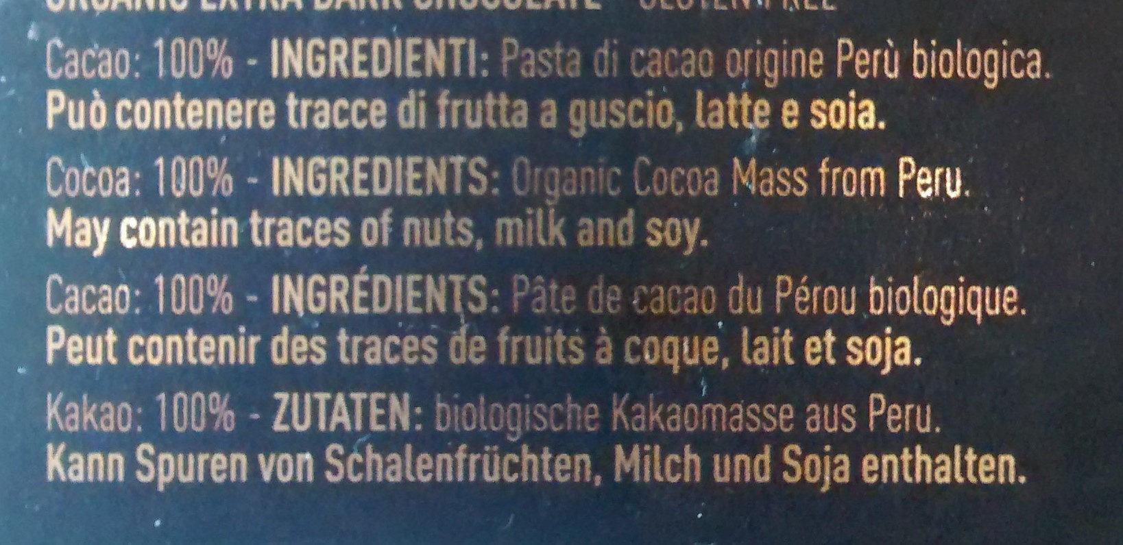 Tablette chocolat - Ingredients - it
