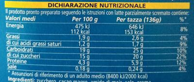 Cameo gusto classico - Informazioni nutrizionali - it
