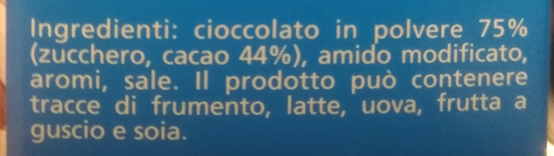 Cameo Ciobar Gusto fondente - Ingredients - it