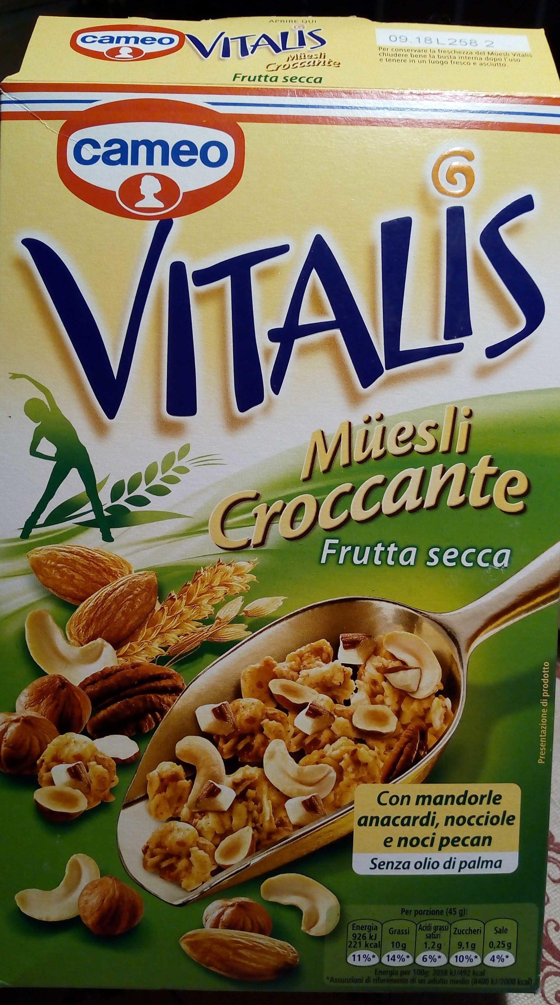 Vitalis Müesli Croccante Frutta Secca - Product - fr