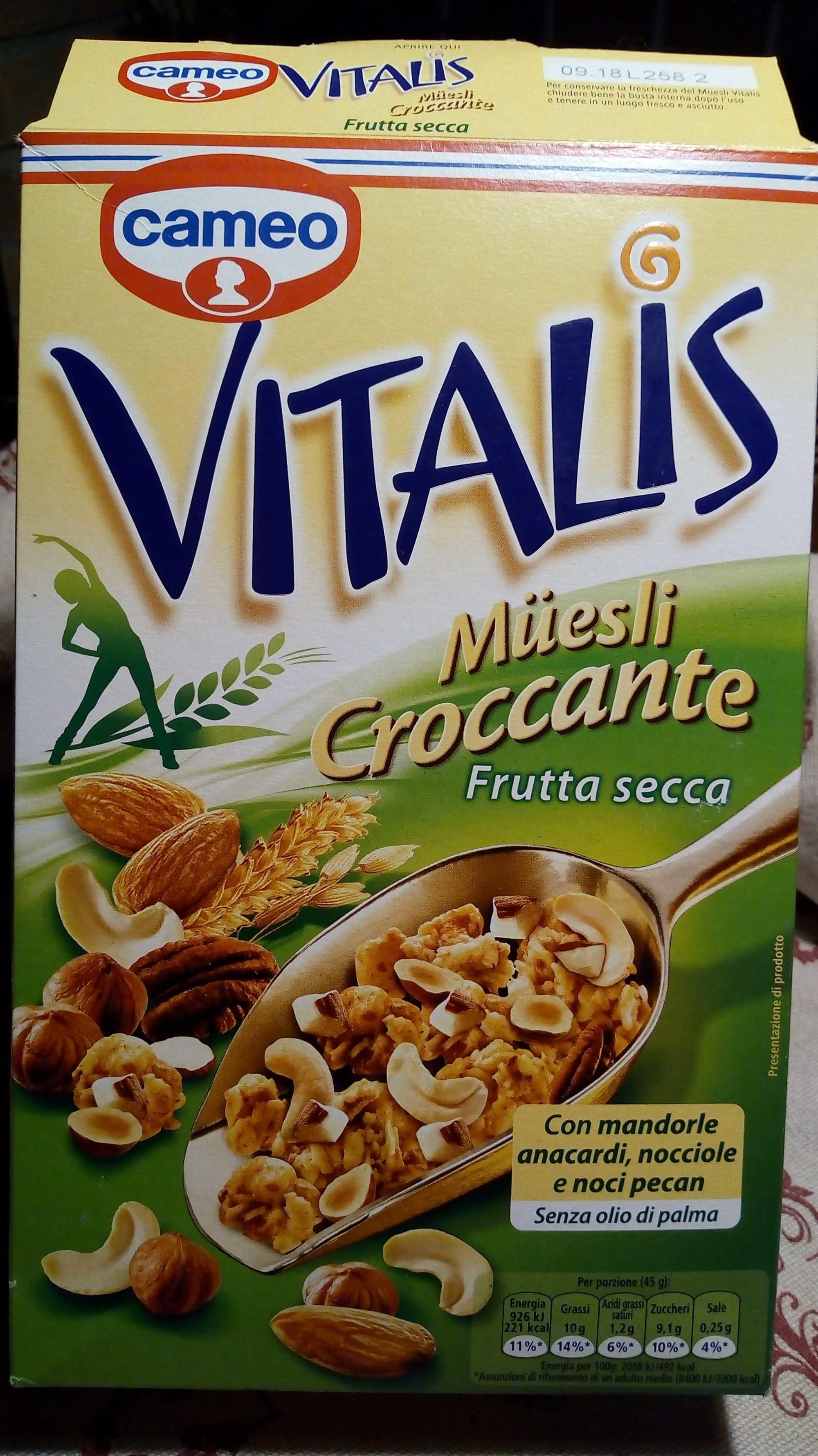 Cameo Vitalis Frutta Secca GR. 300 - Prodotto