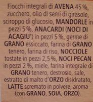 Vitalis Müesli Croccante Frutta Secca - Ingredients - fr