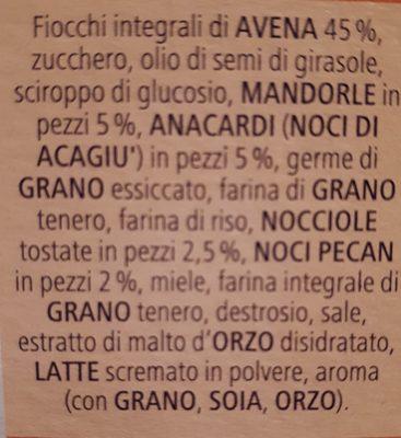 Cameo Vitalis Frutta Secca GR. 300 - Ingredienti