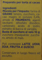 Torta al cacao - Ingredienti - it