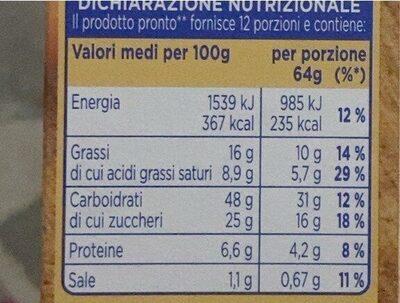Torta al cacao - Valori nutrizionali - it