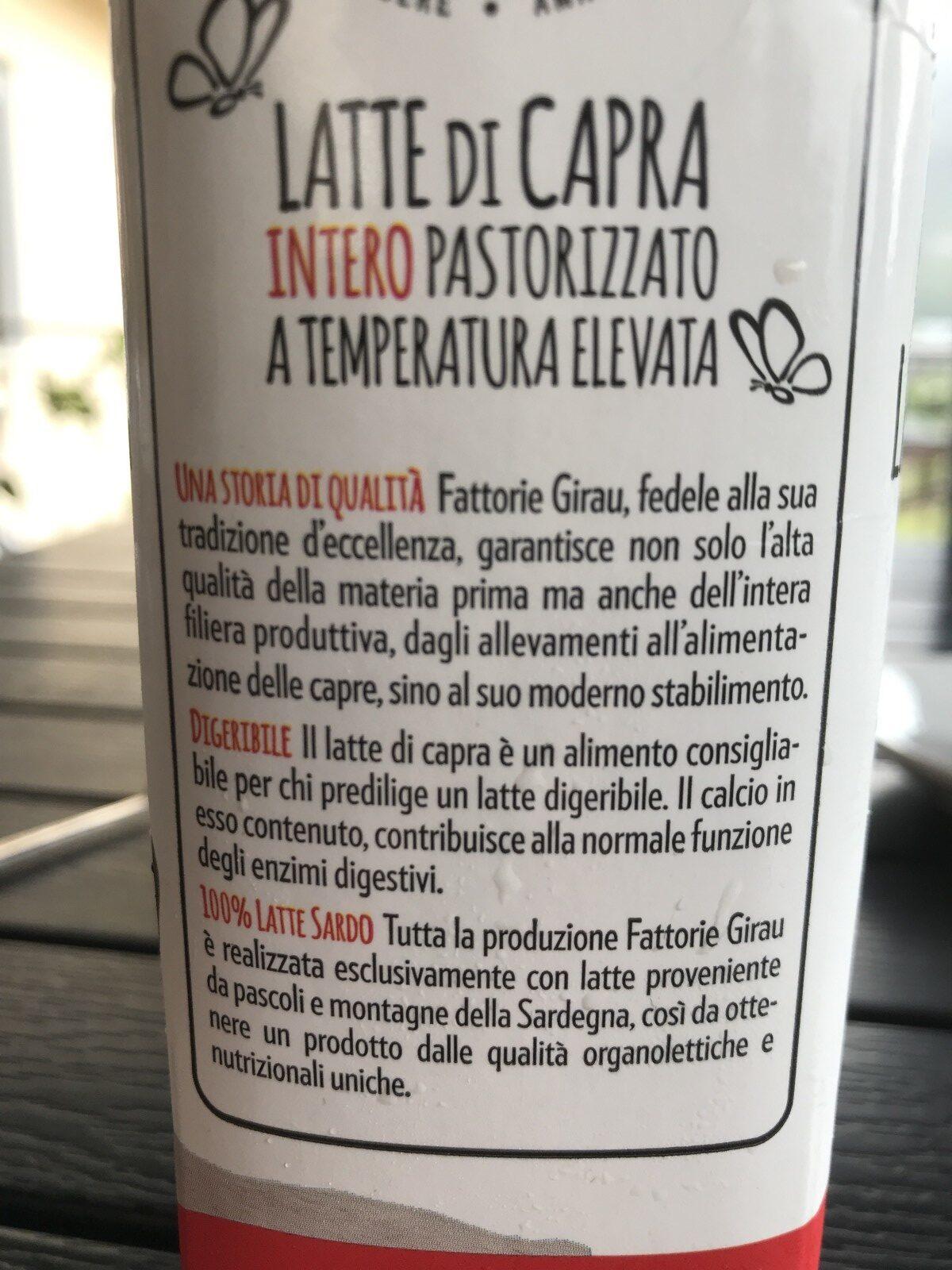 Latte di capra - Ingredienti - fr