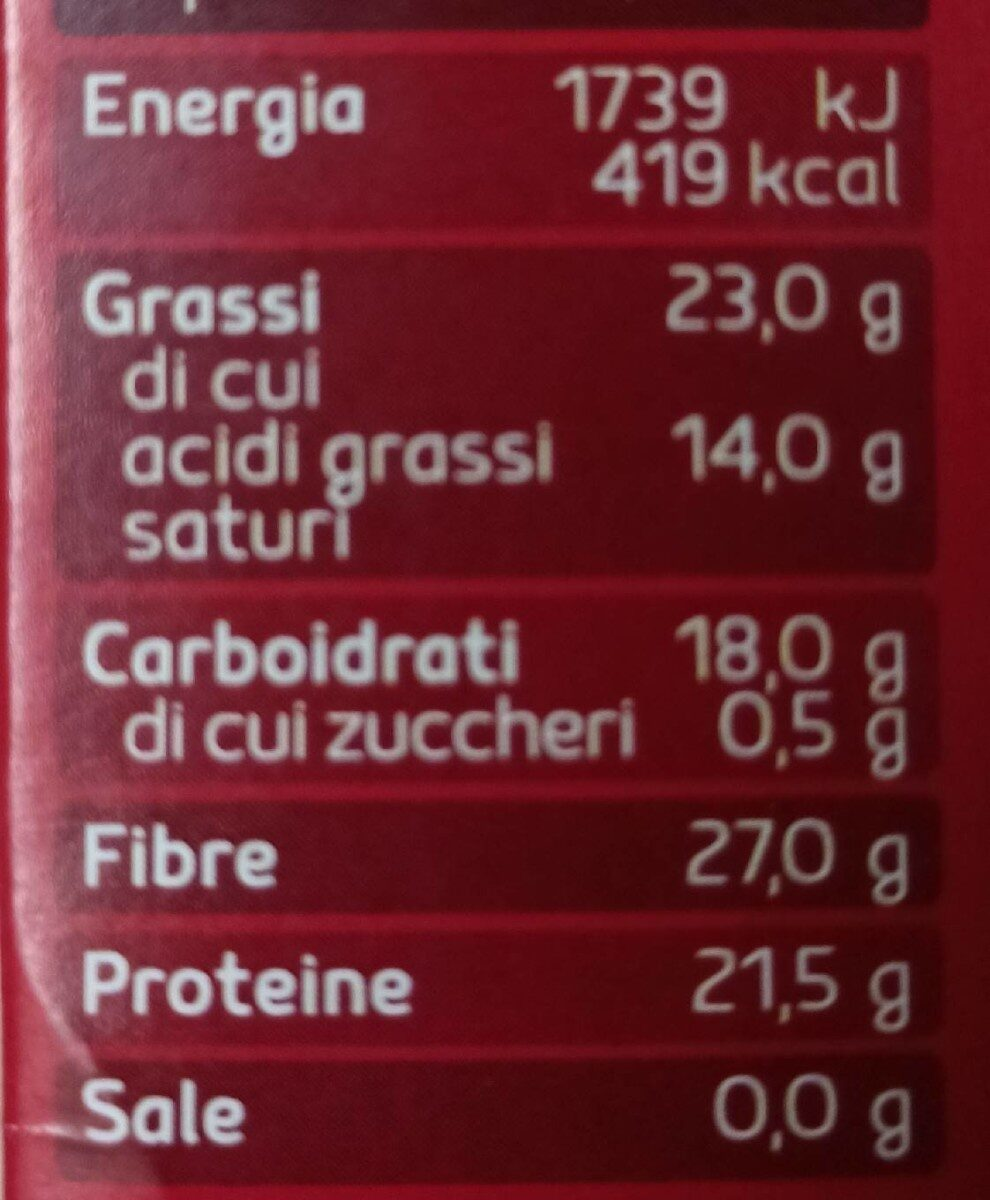 Cacao amaro - Valori nutrizionali - it