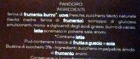Le Bontà del Pasticciere Pandoro morbido e gustoso - Ingredienti