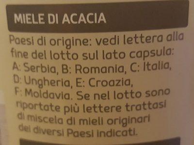 Miel acacia - Ingredients - it