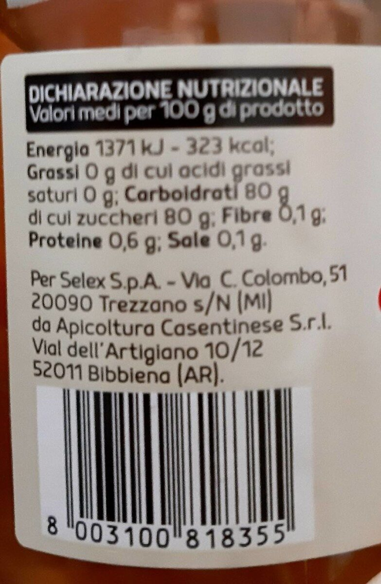 Miel acacia - Nutrition facts - it